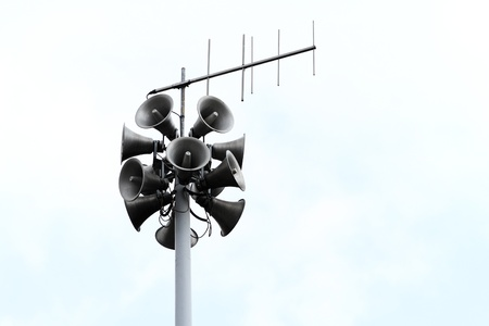 amplification: Lots of loudspeakers on a tall column