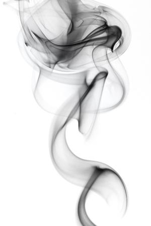 Gray smoke in white background