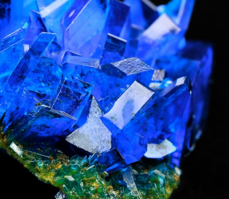 crystallization: Crystals of blue vitriol - Copper sulfate Stock Photo