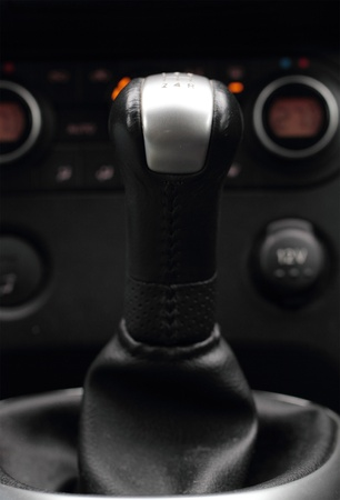 Gear stick and control panel photo