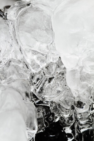 wintrily: Icicles sparkling white ice hanging down