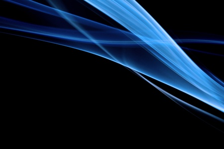 blue flame: Blue smoke in black background Stock Photo