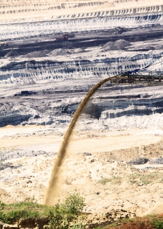 finery: Coal mining in an open pit Stock Photo