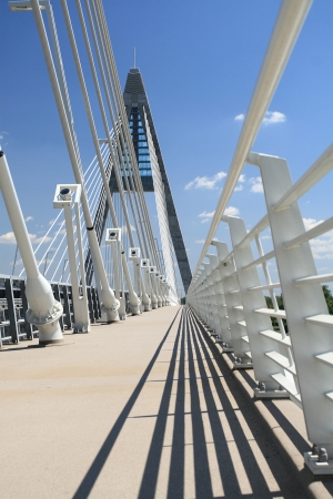 The Megyeri bridge  Hungary Stock Photo - 20286405