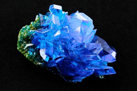 sulfate: Crystals of blue vitriol - Copper sulfate Stock Photo