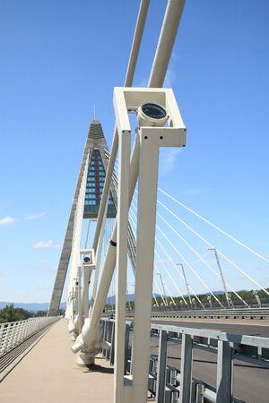The Megyeri bridge. Hungary Stock Photo - 20533635