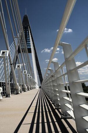 The Megyeri bridge. Hungary Stock Photo - 20533625