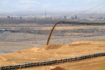Coal mining in an open pit Stock Photo - 20533765