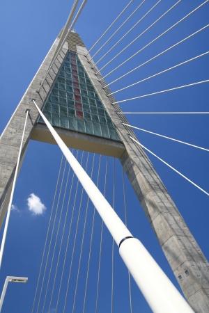megyeri: The Megyeri bridge. Hungary Stock Photo