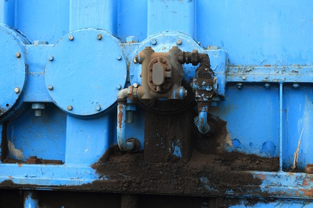 Close up from an old oil pump photo