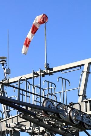 meteorology: Meteorology wind bag on blue sky