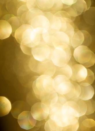 Yellow Bokeh effect decoration photo