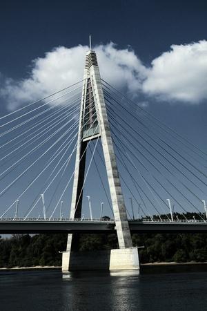 The Megyeri bridge. Hungary Stock Photo - 21360833