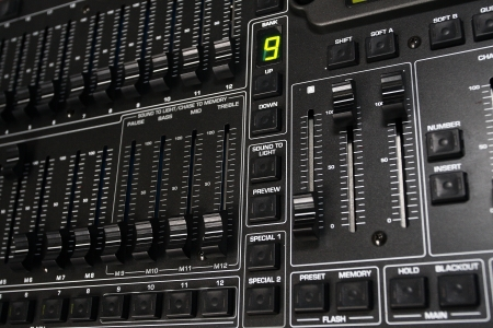 Recording Mixer - close up photo