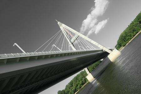 The Megyeri bridge. Hungary Stock Photo - 21662288