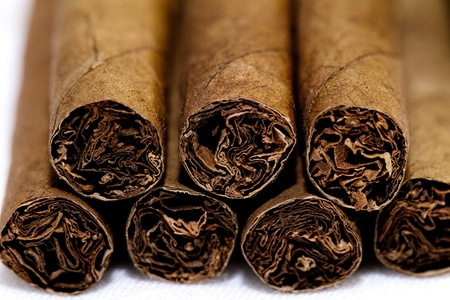 The small cigars put together. small depth of sharpness photo