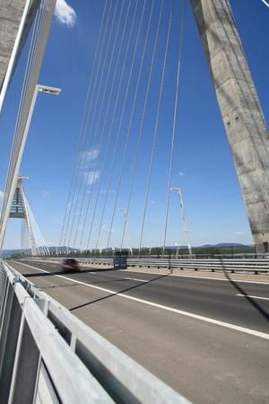 The Megyeri bridge. Hungary Stock Photo - 21662738