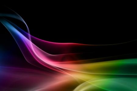 smoky black: Multicolored smoke in black background