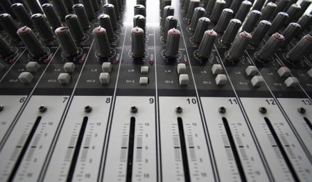 electronic music: Recording Mixer - close up
