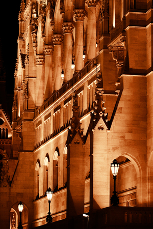 Budapest Parliament building in Hungary at twilight. photo