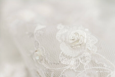 cotton dress: Beautiful lace with flower pattern - macro photo