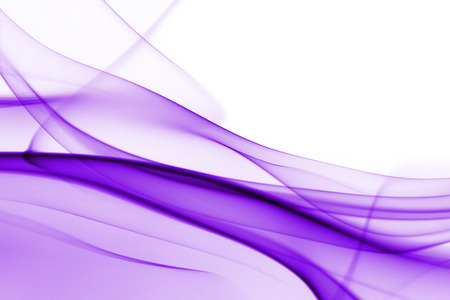Purple abstract smoke on white background - macro photo Imagens