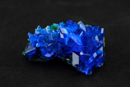 Crystals of blue vitriol - Copper sulfate photo
