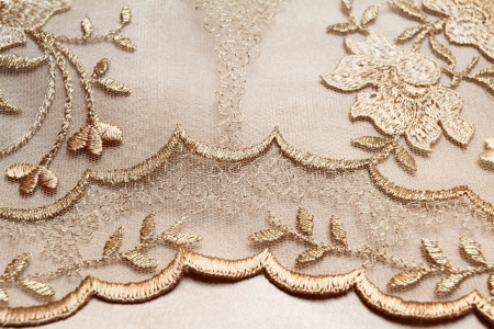 evening dress: Golden textile wedding background Stock Photo