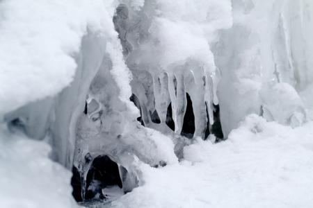 wintrily: ghiaccioli frizzante bianco ghiaccio che pende