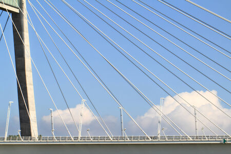 The Megyeri bridge, Hungarys newest and largest bridge (detail) photo