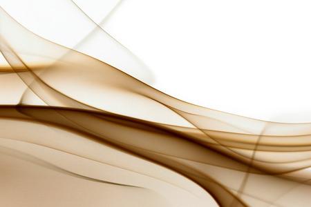 갈색 추상 연기 흰색 배경에 - 매크로 사진