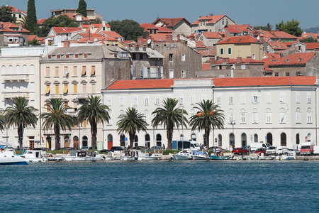 Beautiful landscape in Split of the port - Croatia photo