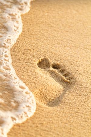 Photo of the beautiful sandy beach in Croatia photo