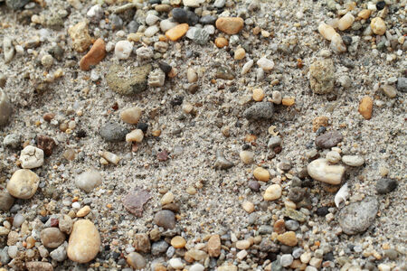 Close up photo of various stone gravel photo