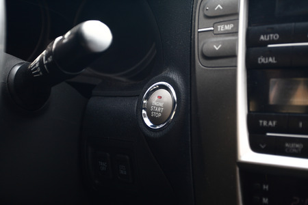 Close up photo of a modern cars dashboard photo