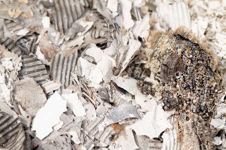 brunt: Close up photo of brunt white paper