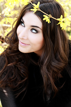 Very nice girl with long brown hair Stock Photo - 29039624