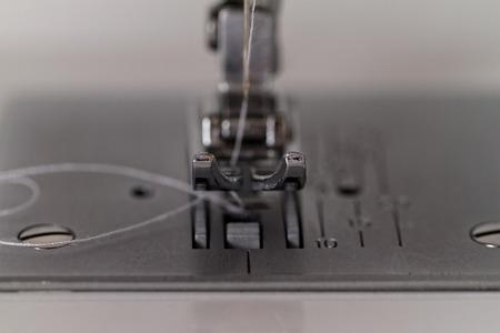 Close up photo of a sewing machine photo