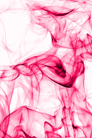 Macro photo of the smoke - whit white background photo