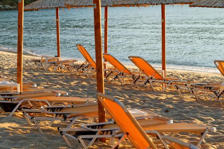 Photo of the beautiful sandy beach in Greek  photo