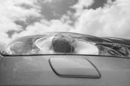 Close up photo of a car lights photo