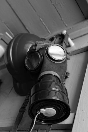 Photo of the WW II gas mask  photo