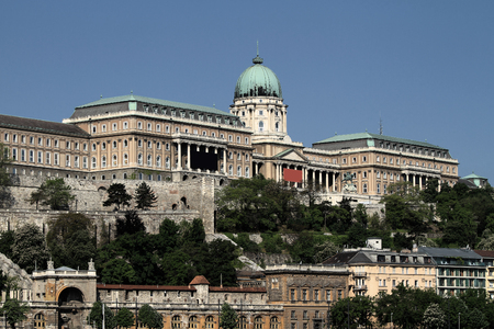buda: The Buda Castle in Budapest at daylight