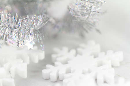 Close up photo of bright Christmas decorations photo