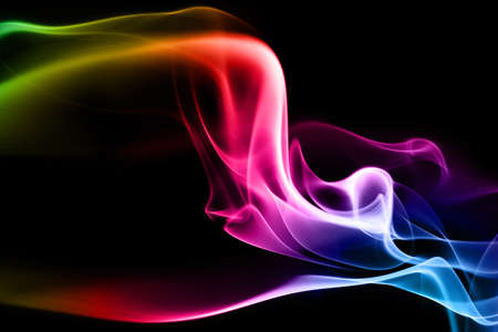 Abstract photo of the mysterious smoke - black background photo