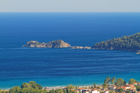 thassos: Photo of the beautiful sea in Thassos, Greece Stock Photo