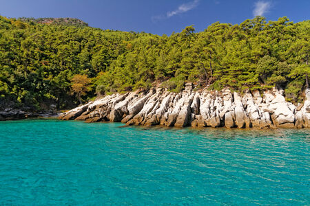 thassos: Photo of a beautiful green island and the beautiful sea
