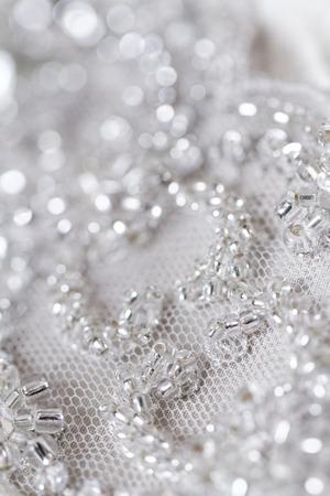 웨딩 드레스의 세부 사항 - 매크로 사진 스톡 콘텐츠