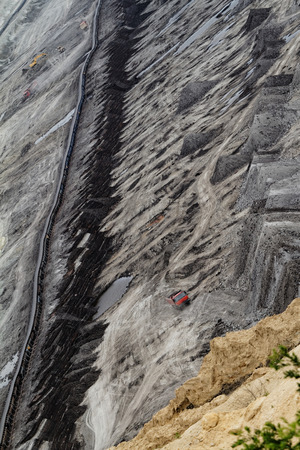 smelting plant: Coal mining in an open pit Stock Photo