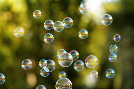 soap bubbles: The rainbow bubbles from the bubble blower
